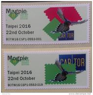 Taiwan 2016 PHILATAIPEI 2016 World Stamp Exhibition Test ATM Stamps-Blue Magpie Bird Unusual