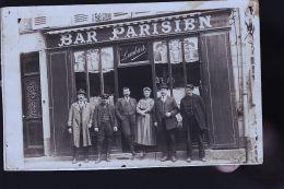 BAR PARISIEN CHEZ LOMBARD CP PHOTO A SITUER - Cartes Postales