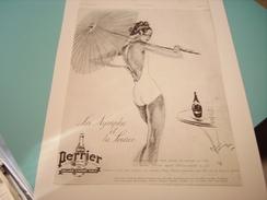 PUBLICITE LA NYMPHE ET LA SOURCE PERRIER 1936 - Perrier