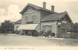 EPINAY-le Café Et La Gare De Ceinture - Francia