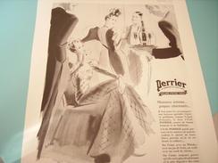 ANCIENNE PUBLICITE PERRIER JAILLIT A VERGEZE 1939 - Perrier