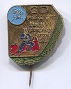 FIREMAN, Feuerwehrmann, Bombero - GZS, GD Majsperk Vas, Slovenia, Vintage Pin Badge, Abzeichen, D 35 X 30 Mm - Brandweerman