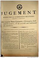 AFFICHE REVOLUTION. FAC-SIMILÉ - 16 - JUGEMENT RENDU PAR LA COMMISSION MILITAIRE, SÉANTE À LIBOURNE. QUI ACQUITTE SIMON - Affiches