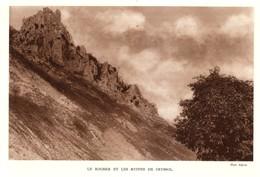 1928 - Héliogravure - Saint-Péray (Ardèche) - Les Ruines De Crussol - FRANCO DE PORT - Non Classés