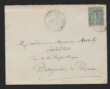 Hautes Pyrénées - Cachet  Pointillé  VIDOUZE - Postmark Collection (Covers)