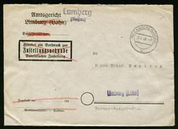 A4466) Kontrollrat Brief Von Camburg 23.6.48 Mit 10fach-Frankatur Briefkastenleerung - Bizone