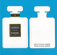 Cartes Parfumées  Carte  CHANEL COCO  De CHANEL RECTO VERSO - Cartes Parfumées