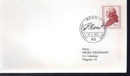 ALLEMAGNE Lettre  1er Jour  1974  Emmanuel Kant Philosophe - Célébrités