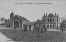 CPA 35 - ST AUBIN DU CORMIER - La Place Du Champ De Foire - France