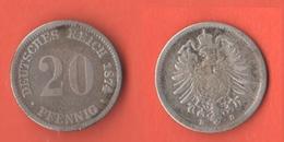 20 Pfenning 1874 D Germania Germany Deutschland - [ 2] 1871-1918: Deutsches Kaiserreich