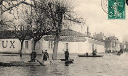 MACON Inondations 1910 Rue Du Gaz Et Rue De La République - Macon