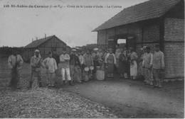 CPA 35 - ST AUBIN DU CORMIER -Camp De La Lande D'Ouée La Cuisine - France