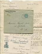 VAR De COGOLIN LAC Du 10/11/1904 Avec CP Pour Retour Commande  Thème Vers à Soie - Marcophilie (Lettres)