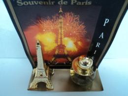 """CRES  FLACON  +  """" TOUR EIFFEL""""  BOITE PAS PARFAITE  LIRE ET VOIR !! - Miniatures Womens' Fragrances (in Box)"""