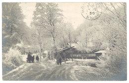 Cpa Carte-photo Autriche, Paysage De Neige, Attelage ( Tampon Au Verso : Gastwirtschalt Rieglerhütte ) - Autriche