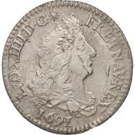 France, Louis XIV, 1/12 Écu Aux 8 L, 1/12 ECU, 10 Sols, 1691, Paris, TB+