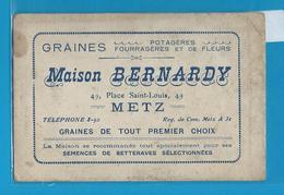 Carte Pub. METZ  Maison Bernardy - Graines - Poireau ..... - Other