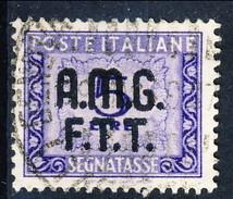 Trieste Zona A Tasse 1947 - 49 N. 10  N. 9 L. 5 Violetto  Usato Cat. € 75 - 7. Triest