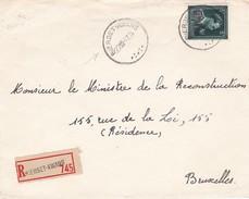N° 724 T : Lettre En RECOMMANDE De BIERSET AWANS - 1946 -10%