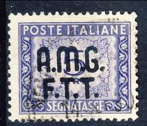 Trieste Zona A Tasse 1947 - 49 N. 9 L. 5 Violetto Usato Cat. € 75 - 7. Triest