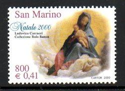SAINT MARIN. N°1722 De 2000. Noël/Madone De Carracci.