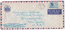 """CA52       Canada 1957 Cover Air Mail Ottawa To  Bloomfield USA - Bird, Slogan Cancel """"Help The Red Cross"""""""