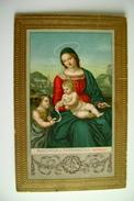 MADONNA DI TERRANOVA  RAFFAELLO      SANCTE  SAINT  RELIGIONE  VIAGGIATA  COME DA  FOTO FORMATO PICCOLO EMBOSSED - Vergine Maria E Madonne
