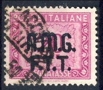 Trieste Zona A Tasse 1947 - 49 N. 14 L. 20 Lilla Rosa Usato Cat. € 22 - 7. Triest