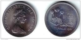 TUVALU ( Ellice Islands ) . 5 Dollars 1981 ROYAL WEDDING - KM#12 BU Prooflike - Tuvalu