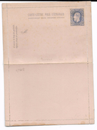 Carte Lettre Pour L'Etranger  25 Ct  Perforatie A (1883) - Entiers Postaux
