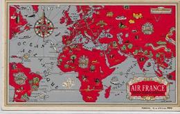 CPA Publicité Publicitaire Réclame Non Circulé Air France Aviation - Advertising