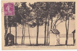 Dep 33 - Le Verdon - La Plage Et Le Monument Lafayette à La Pointe De La Grave  : Achat Immédiat - Other Municipalities