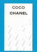 Cartes Parfumées Carte CHANEL COCO  De CHANEL - Modern (from 1961)