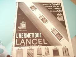 ANCIENNE PUBLICITE PENDULETTE LANCEL 1929 - Bijoux & Horlogerie