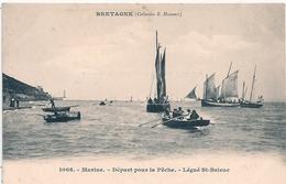 Cpa 22   Légué St Brieuc Départ Pour La Pêche - Saint-Brieuc