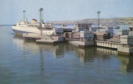 CPA - Baku ( Bakou ) - View Of A Ferry Boat Joining Baku With Krasnovodsk - Azerbaïjan