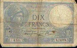 FRANCE – 10 Francs – 19=10=1939 - 10 F 1916-1942 ''Minerve''