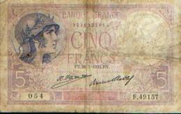 FRANCE – 5 Francs – 28=7=1932 - 5 F 1917-1940 ''Violet''
