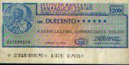 ITALIE « Institut Bancaire Saint-Paul De TURIN » : 200 Lires (21.01.1976) - Andere