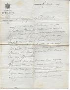 1869 - LETTRE Du SECRETAIRE GENERAL De La PREFECTURE Du BAS-RHIN à STRASBOURG - ALSACE