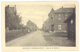 Cpa Belgique - Blegny Trembleur - Rue De La Station - Blégny