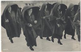 Malta Maltese Women Wearing Silk Faldettas Old Unused Postcard B170125 - Costumes