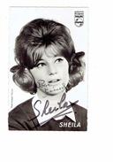 Cpm Dédicace Artiste Chanteuse - SHEILA - Disques PHILIPS - - Artistas