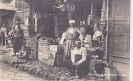 Carte Photo : Boutique Et Marchands Turcs   (Turquie),    Vraisemblement Constantinople - Professions