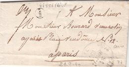 LETTRE.  21 SEPT 1840.   SEINE INFERIEURE CANY.   BOITE RURALE :  2/E   VITTEFLEUR    /  45 - Storia Postale