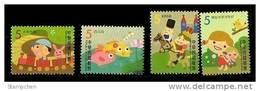 Taiwan 2009 Children Folk Rhymes Stamps Train Doll Bird Fish Lotus Firefly Rain Horse Soldier Castle Rabbit