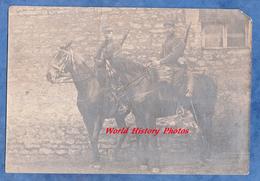 Photo Ancienne - Portrait De Poilu , Chasseurs à Cheval ? - Voir Uniforme , Fusil , équipement - 1915 WW1 Front - War, Military