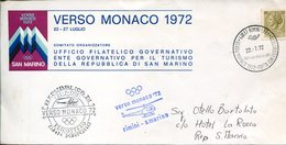 18013 Italia,special Postmark 1972 ,rimini Helicopter Flight Rimini/san Marino For The Munchen Olympiade