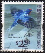 Hong Kong 2006 1  V Used Barn Swallow  Birds Bird Oiseaux Oiseau