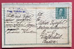 REPUBBLICA CECA  INTERO POSTALE AUSTRIA  8 H. DA  VINOHRADY (PRAHA)  A LIPZIG  LIPSIA IL  30/12/1916 - Repubblica Ceca